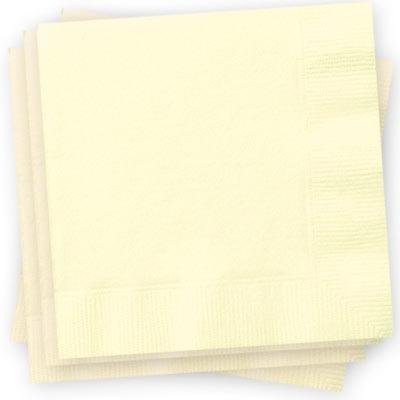 Papierservietten gross cremefarben, 33cm, 20er-Pack, 2-lagig