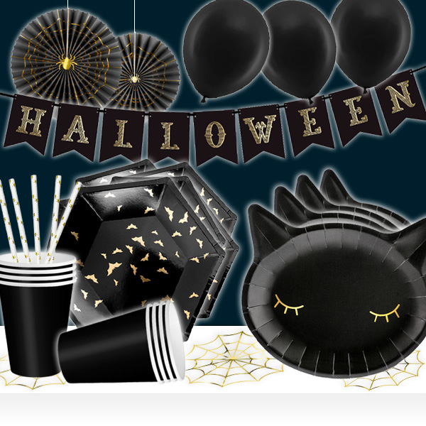 Partyset für Halloween mit Tisch und Raumdeko, 36-teilig