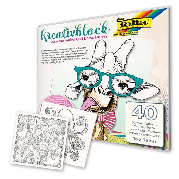 Kreativblock zum Ausmalen und Entspannen, 40 Motiven
