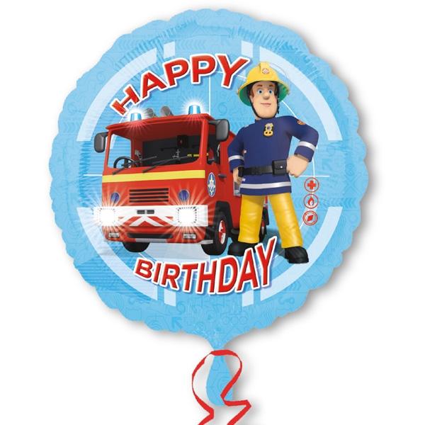 Feuerwehrmann Sam - Folieballon, 1 Stk, Ø 35cm