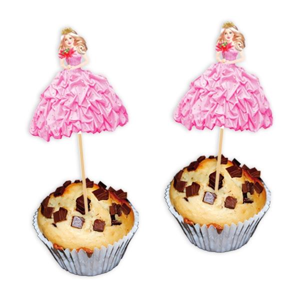 Prinzessin Dekopicker, super Idee für Fooddeko Mädchen Birthday, 8 Stück