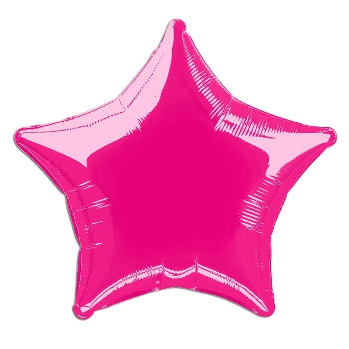 Folienballons sternförmig pink, 45 cm