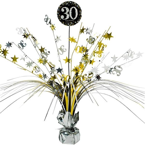 Sparkling Celebr. Tischkaskade 30. Geburtstag, golden, 46cm