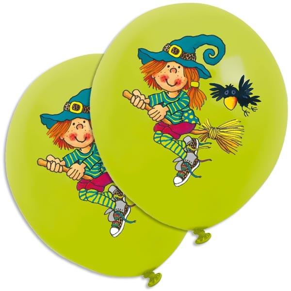 Mira Mistelzweig Luftballons für Hexengeburtstag, 8er, Latex, 30 cm