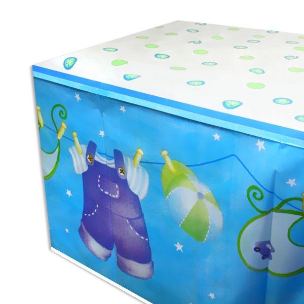 Tischdecke Its a Boy, Kunststofffolie, 137cm x 213cm, Babyparty-Deko