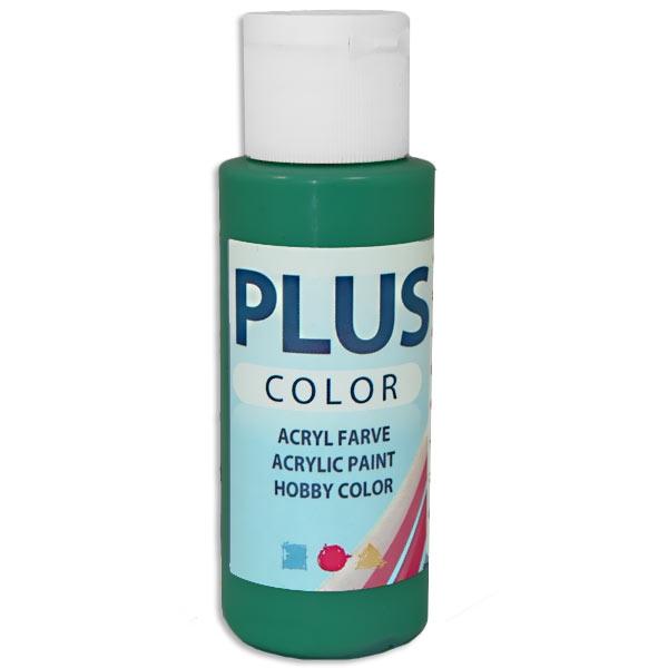 Bastelfarbe Plus Color Dunkelgrün, 60 ml, sehr gute Deckkraft