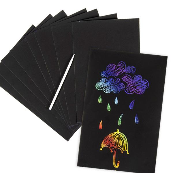 "Kratzpapier ""Regenbogen"", 8 Blatt, 21cm x 14cm"