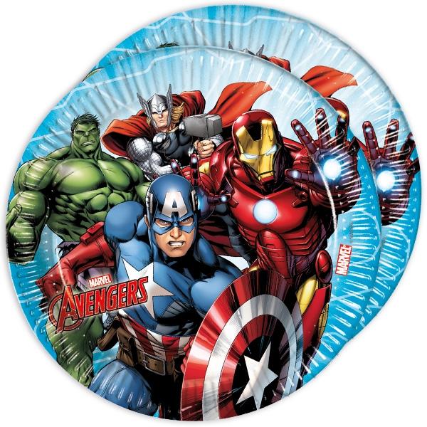 Avengers Partyteller im 8er Pack, Ø 22,5cm