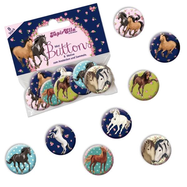 Pferde Mini Buttons, 8 Stk