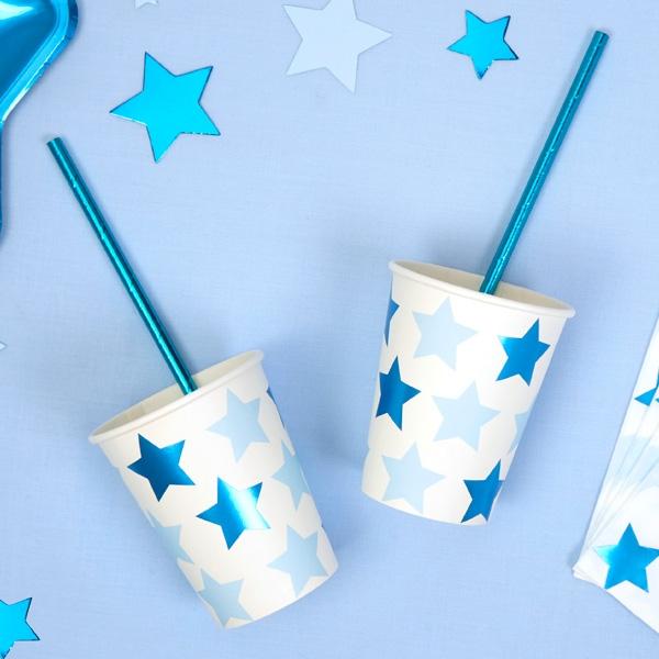 """Partybecher """"Kleiner Stern""""in blau, 8er Pack"""