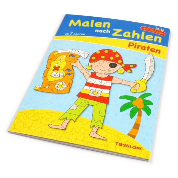 Malen nach Zahlen Thema Piraten für Kinder ab 7 Jahren, 1 Malbuch, 24 S.