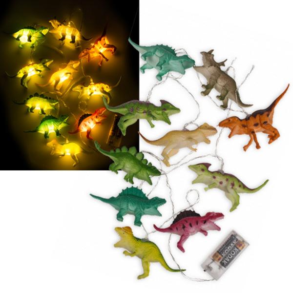 Dinosaurier-Lichterkette mit 10 LEDs, ca. 1,7m