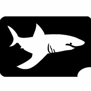 gefährlicher Hai Tattooschablone, eindrucksvolle Vorlage, 8x5,5 cm