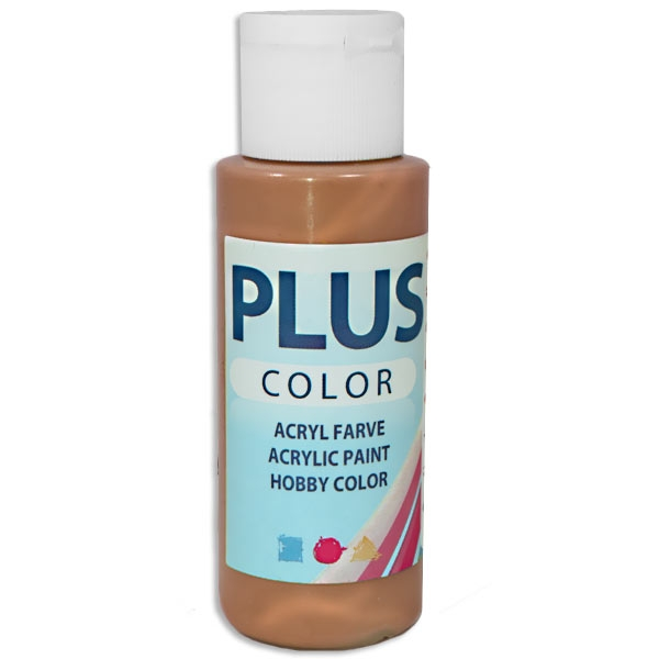 Bastelfarbe Plus Color Bronze, 60 ml, äußerst gute Deckkraft