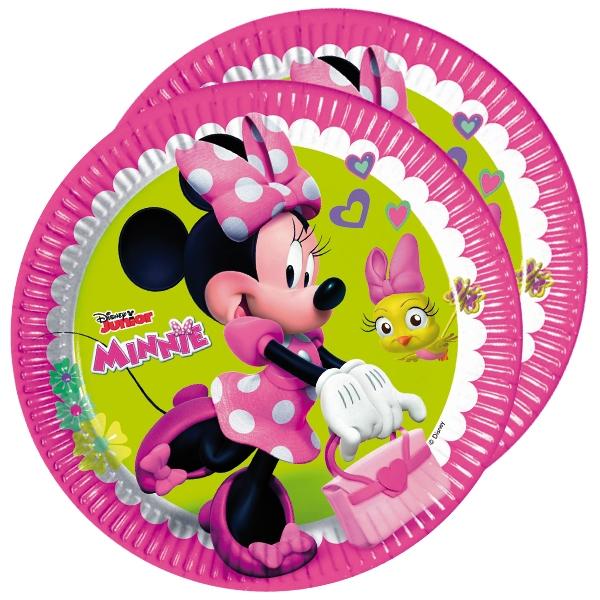 Minnie Kuchenteller, 8er Pack, 22,5cm, für Minnie Mouse Mottoparty