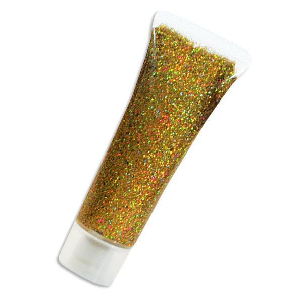 Glitzergel, Gold Juwel, goldenes Glitter Make Up, feine Qualität-hoch pigmentiert, 18ml Tube