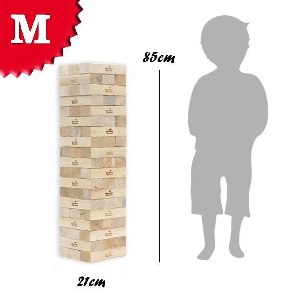 Riesen Wackelturm XXL Spielzeug mit 19 Etagen, 85cm hoch