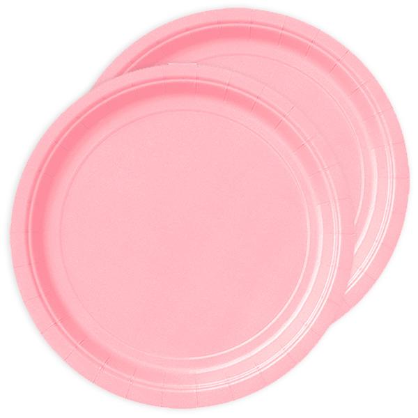 Pappteller rosa, Durchm. ca. 22,5cm, 8er-Pack