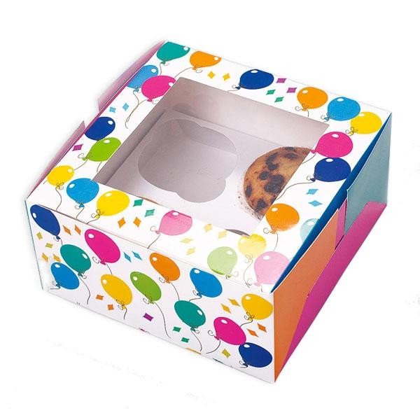 Muffin-Boxen im Ballon-Design 2 Stück für den Transport von Muffins