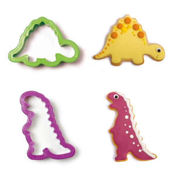 """Ausstechformen """"Dinosaurier"""" im 2er Set, aus Kunststoff"""