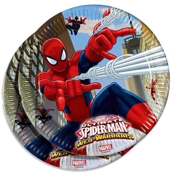 Spiderman Teller 8er Pack, 23 cm