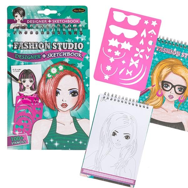 Spiral Malbuch Fashion Studio, 1 Stk., Geburtstagsgeschenk für Mädchen