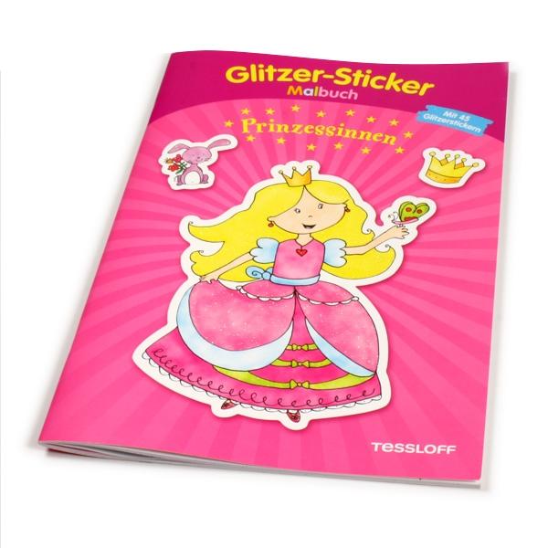 Glitzer-Sticker Malbuch - Prinzessinnen