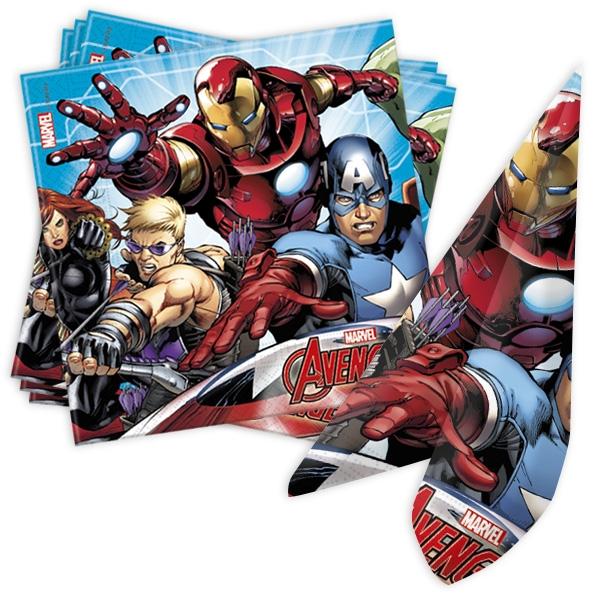 Avengers Servietten im 20er Pack, 33cm x 33cm