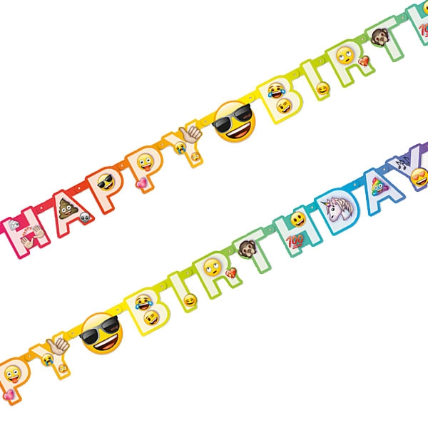 Emoji Rainbow Fun Buchstabenkette Happy Birthday, 1 Stk