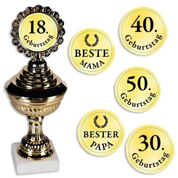 "Kunststoff-Pokal ""Congratulation"" auf Steinsockel"