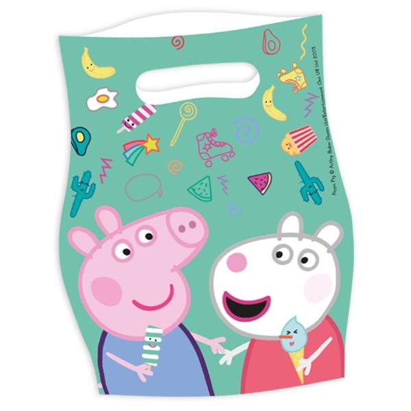 Peppa Pig Mitgebseltütchen, 6er, 16,5x23cm