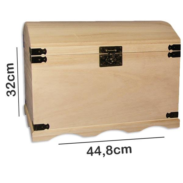 Große Holztruhe +Beschläge 44×28cm