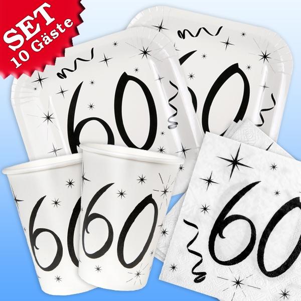 Basicset 60.Geburtstag, 10 Gäste, 40tlg