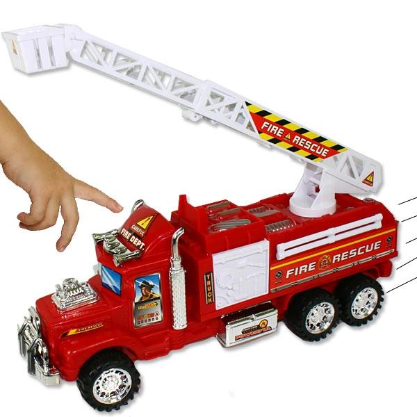 Großes Feuerwehrauto, Spielzeug-Feuerwehr mit ausfahrbarer Leiter