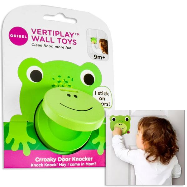 Grasgrüner Frosch Türklopfer für Kinder, 10,7cm x 10,1cm