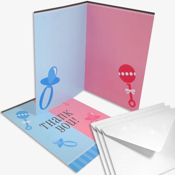 """Dankeskarten Geburt """"Thank you"""", 8 Danksagungskarten + Umschläge"""