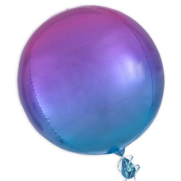 """Orbz"" Folienballon in Rot-Blau, kugelrund, Ø 38cm"