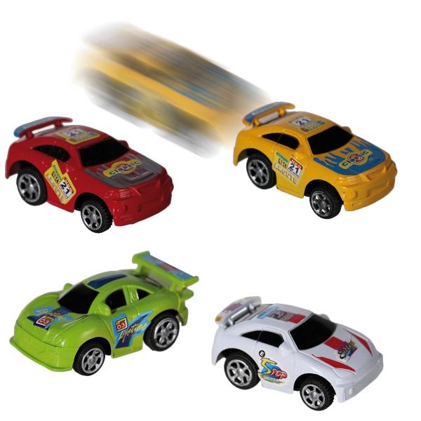 Rückzieh-Rennautos, 2 Spielzeug-Rennwagen mit Rückzug, 6cm
