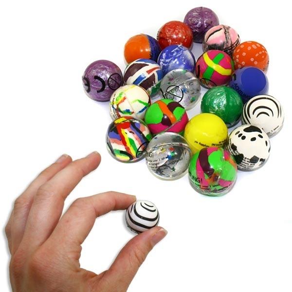 1 x Mini-Flummi, 27mm, süßer kleiner Flummi, versch. Designs möglich