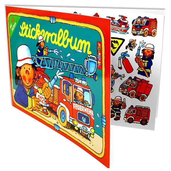 Stickerbuch Feuerwehr Benny Brandmeister, 12 Seiten, 58 Sticker, Stickeralbum
