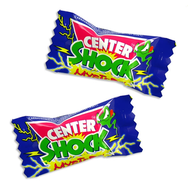 1 Center Shock Mistery, saurer Kaugummi+Flüssigfüllung, für Halloween