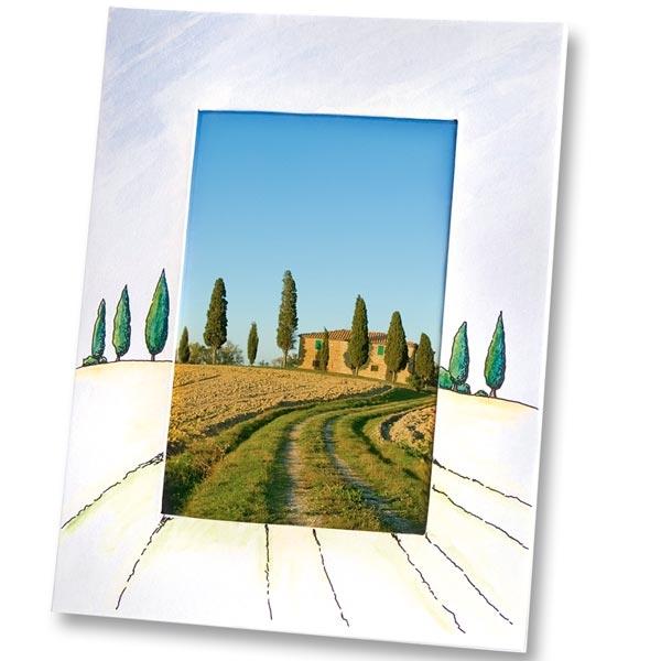 Bilderrahmen aus Pappe zum Bemalen/Bekleben, eckig 16x21cm, weiß