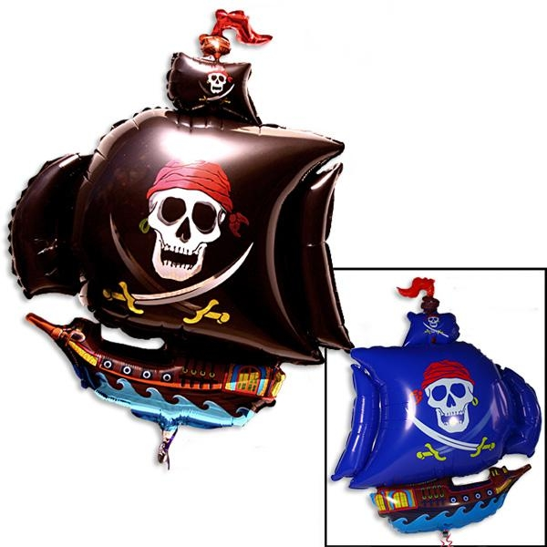 Piratenschiff-Folienballon 80 cm