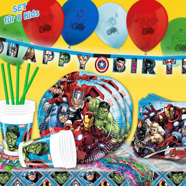The Avengers - Mottopartyset, 59-teilig