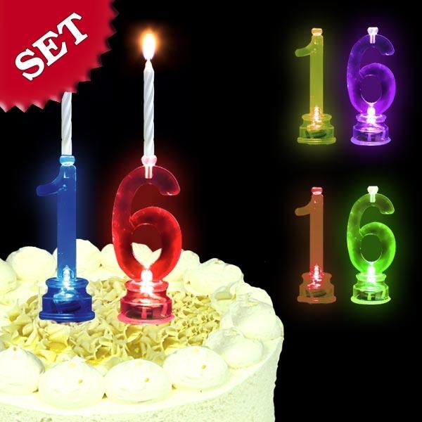 Blinkende Geburtstagszahl 16