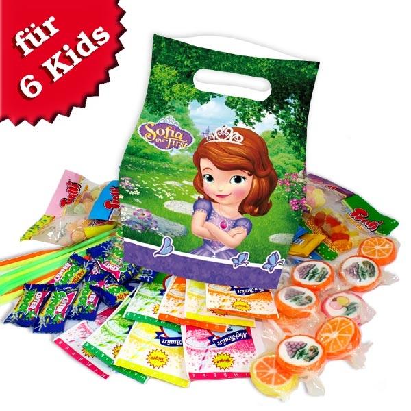 Süßes im Tütchen für Sofia-Mottoparty, 6er Pack, 480g