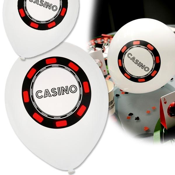 Casinoparty Luftballons, 8er Pck, 23cm, Raumdeko
