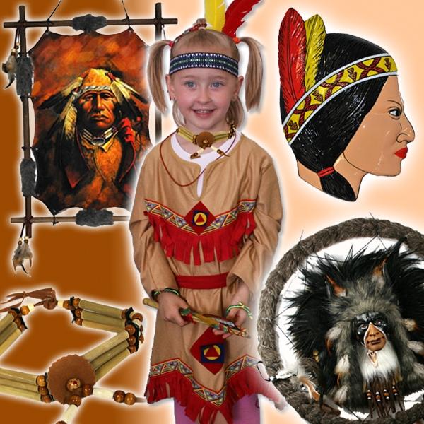 Verleihkiste Indianer Girls, mit Kostümen, Traumfänger, 3D Deko und mehr