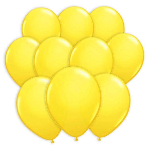 100 Luftballons in Gelb für Ballonspiele und Ballon-Partydeko