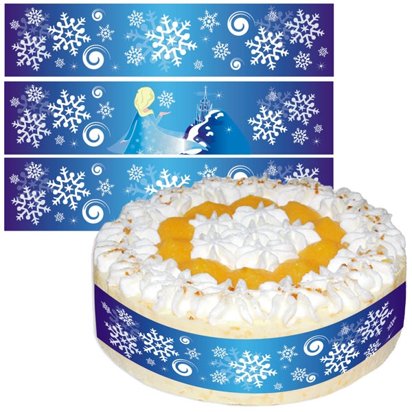 Eisprinzessin Tortenband, Zuckerguss